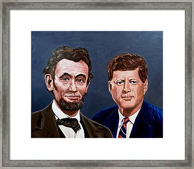 Lincoln And Kennedy Framed Print by Stan Hamilton