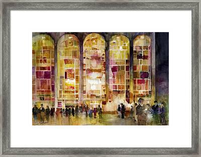 Lincoln Center Framed Print by Dorrie Rifkin