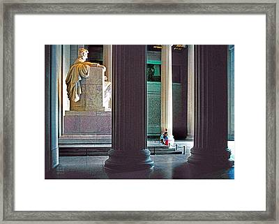 Lincoln Memorial Framed Print by Dennis Cox