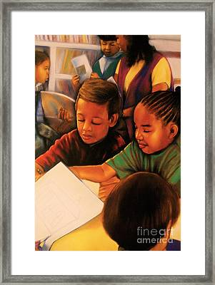 Linda Brown You Are Not Alone Framed Print by Curtis James