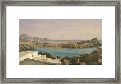 Lindos, Rhodes  Framed Print by Frederic Leighton