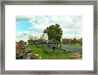Framed Print featuring the photograph Line Of Fire by Paul W Faust - Impressions of Light