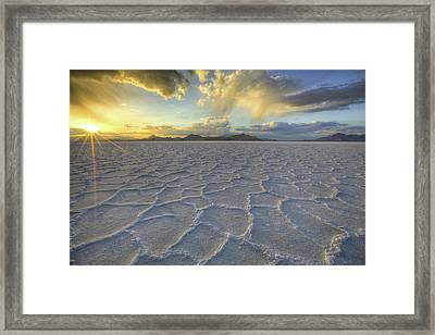 Lines In The Salt Framed Print by Peter Irwindale