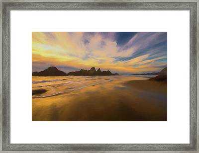 Lines In The Sand 2 Framed Print