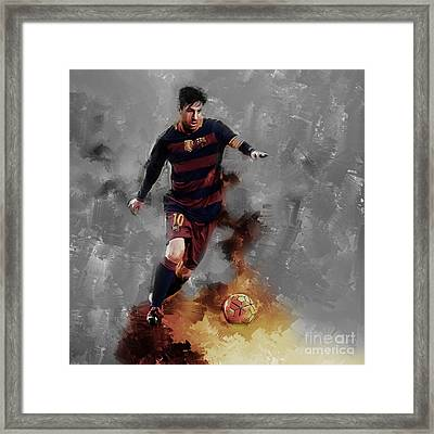 Lionel Messi  Framed Print by Gull G