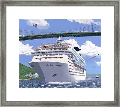 Lions Gate Bon Voyage Framed Print by Neil Woodward