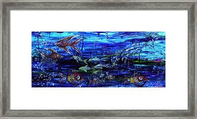 Lipstick Fish Framed Print by Regina Valluzzi