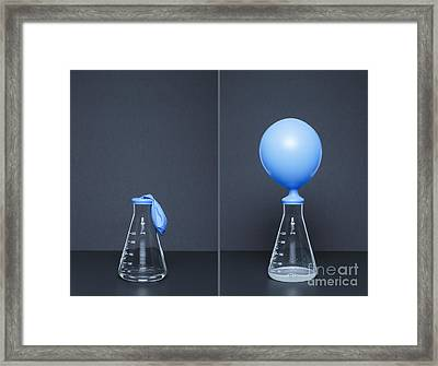 Lithium Carbonate, Citric Acid, Reaction Framed Print