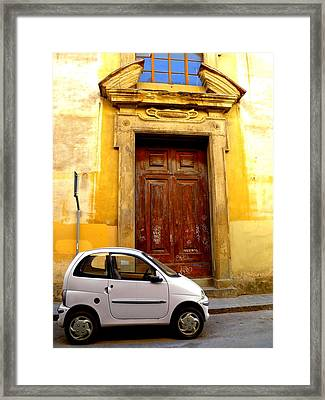 Little Car Of Florence Framed Print by Jen White