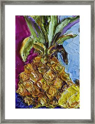 Little Pineapple Framed Print by Paris Wyatt Llanso