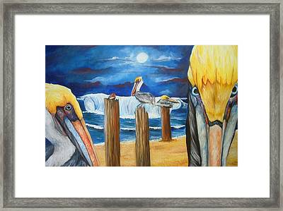 Little Red Bird  Framed Print by Andrea  Darlington