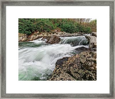 Framed Print featuring the photograph Little River  by Alan Raasch
