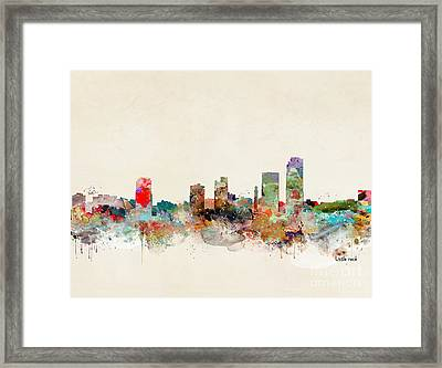 Framed Print featuring the painting Little Rock Arkansas by Bri B