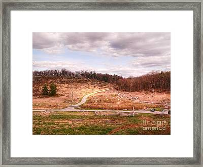 Little Round Top Framed Print by David Bearden