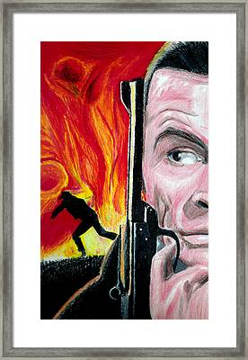 Framed Print featuring the drawing Live And Let Die by Michael McKenzie