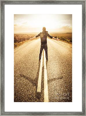Living In The Moment Framed Print by Jorgo Photography - Wall Art Gallery
