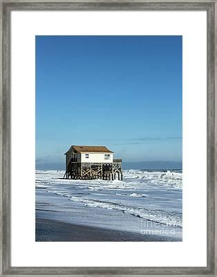 Outer Banks Beach House Framed Print by John Greim
