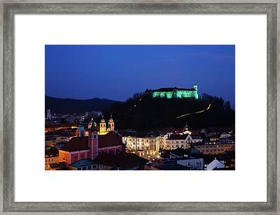 Ljubljana Castle Framed Print