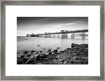 Framed Print featuring the photograph Llandudno Pier by Adrian Evans