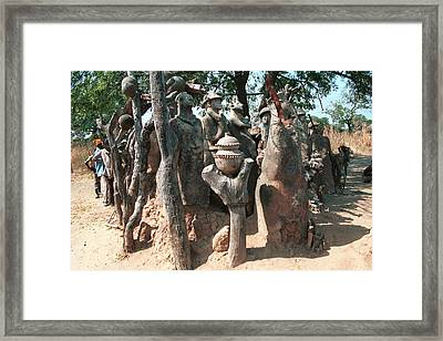 Lobi Country - Birifor 1988 Framed Print by Huib Blom