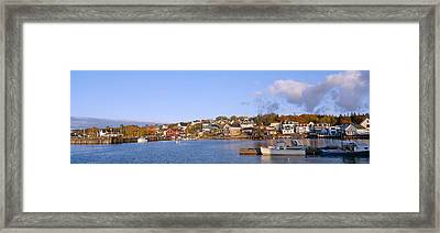 Lobster Village In Autumn, Stonington Framed Print by Panoramic Images