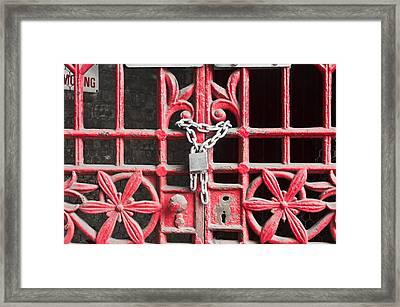 Locked Gate Framed Print