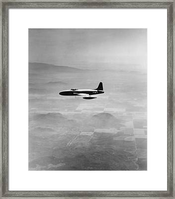 Lockheed P-80 Shooting Star Framed Print by Underwood Archives