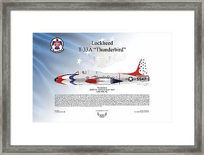 Lockheed T-33a Thunderbird Framed Print