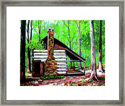 Log Cabin V Framed Print by Stan Hamilton