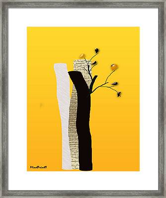 Log Flowers Framed Print