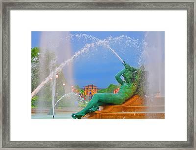 Logan Circle Fountain 1 Framed Print by Bill Cannon