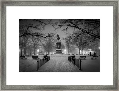 Logan Circle Framed Print by Robert Davis