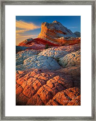 Lollipop Sunset Framed Print by Inge Johnsson