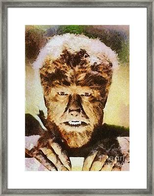 Lon Chaney Jr, As The Wolfman Framed Print