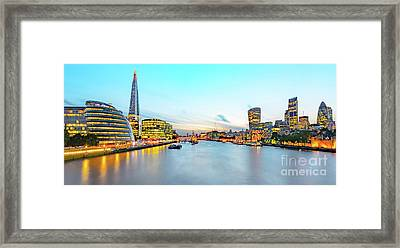 London At Dusk Framed Print by Svetlana Sewell