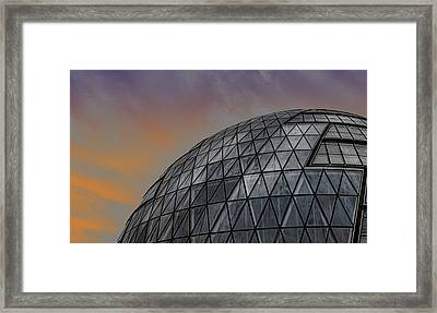 London City Hall Framed Print by Martin Newman