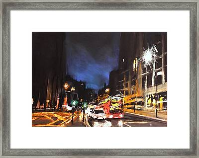 London Oxford Street Framed Print by Paul Mitchell