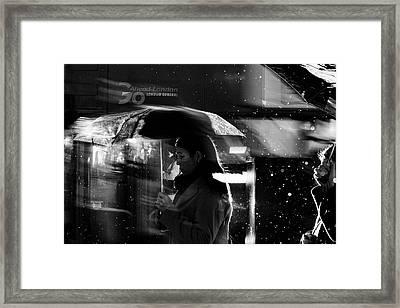 London Rain IIi Framed Print by Wayne La