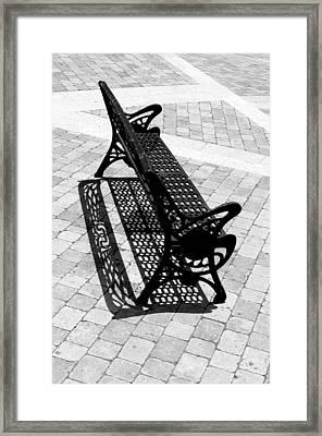 Lone Bench Framed Print by Jez C Self