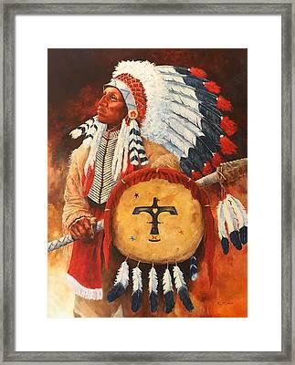 Lone Elk, Sioux Chief Framed Print