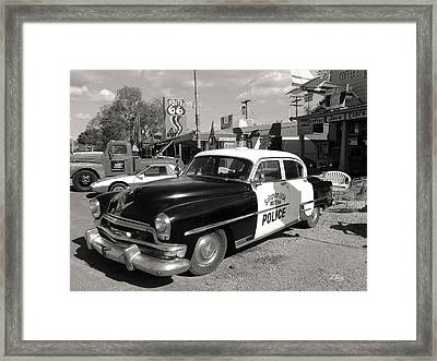 Long Retired Monochrome Framed Print