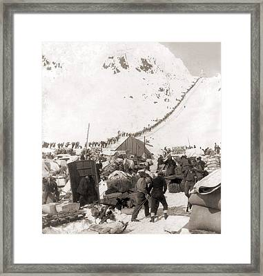 Long Ribbon Of Miners Bound Framed Print