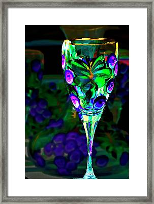 Long Stemmed Glass Framed Print