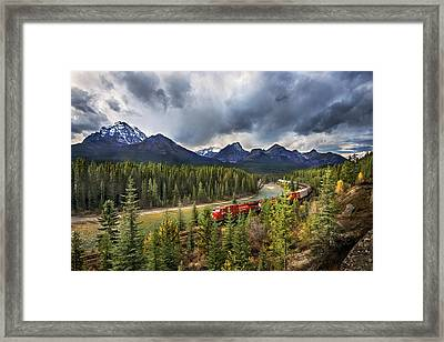 Framed Print featuring the photograph Long Train Running by John Poon