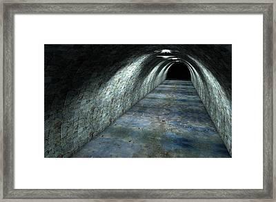 Long Tunnel Lights Framed Print