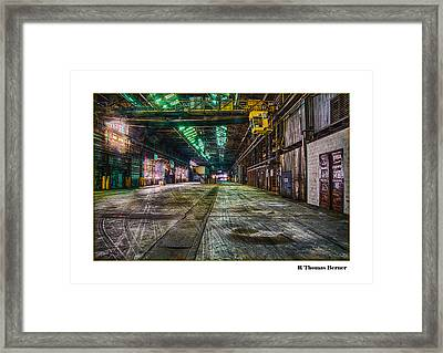 Framed Print featuring the photograph Long View by R Thomas Berner