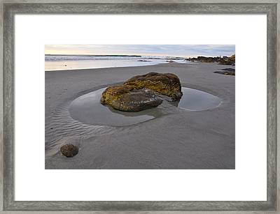 Longsands Rock Framed Print by Catherine Easton