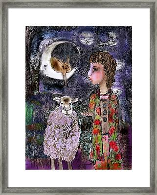 Look Back Framed Print by Cynthia Richards