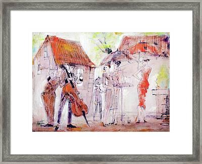 Look Framed Print by Oleg Poberezhnyi