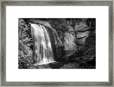 Framed Print featuring the photograph Looking Glass Falls by Howard Salmon